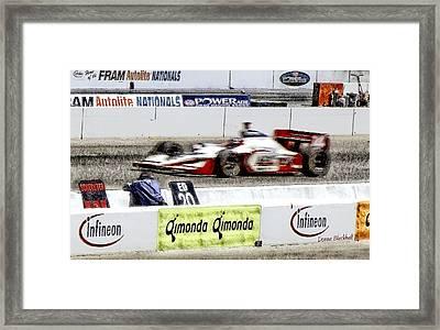 Racing Framed Print by Donna Blackhall