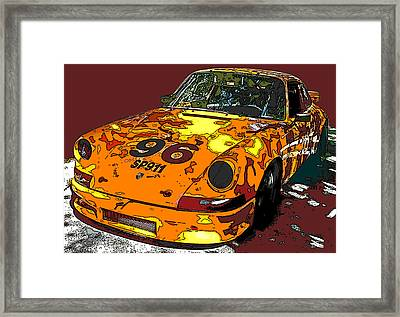 Racing Porsche Sp911 Framed Print by Samuel Sheats
