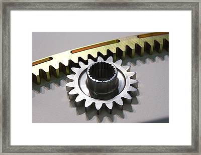 Rack And Pinion Framed Print by Mark Williamson