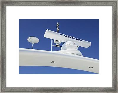 Radar On A Cruise Ship Framed Print by Mark Sykes