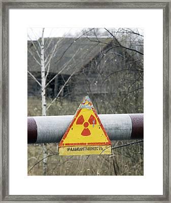 Radiation Warning Sign, Belarus Framed Print by Ria Novosti