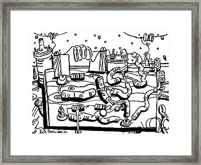 Radio  Framed Print by Charlie Spear