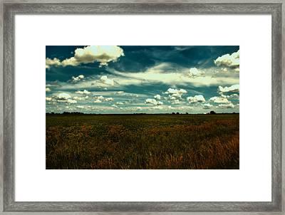 Raging Midnight Field Framed Print by Bill Tiepelman