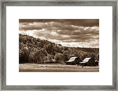 Raging Skies Framed Print by Douglas Barnett