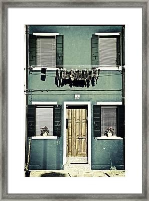 rags in Venice Framed Print by Joana Kruse