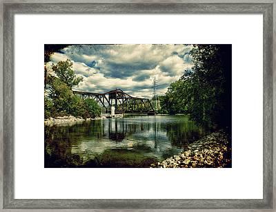 Rail Swing Bridge Framed Print by Joel Witmeyer