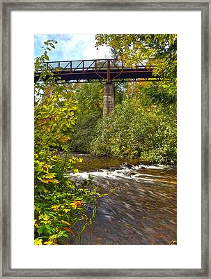Railroad Bridge 7827 Framed Print by Michael Peychich