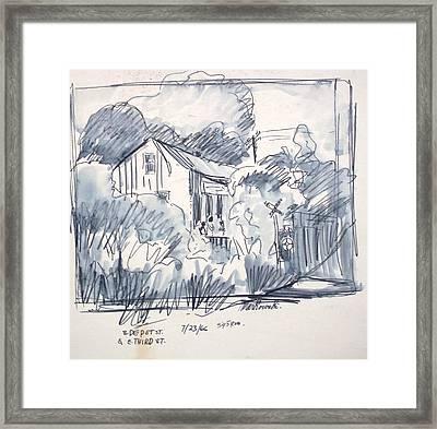 Railroad House Framed Print by Bill Joseph  Markowski