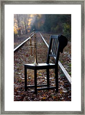 Railroad Framed Print by Ron Smith