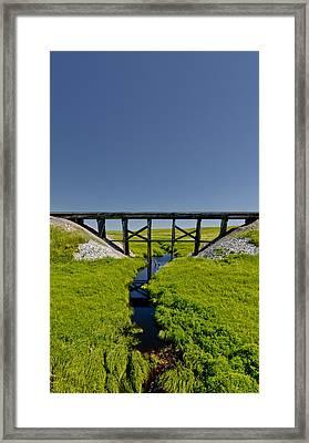 Railroad Trestle Framed Print by Roderick Bley