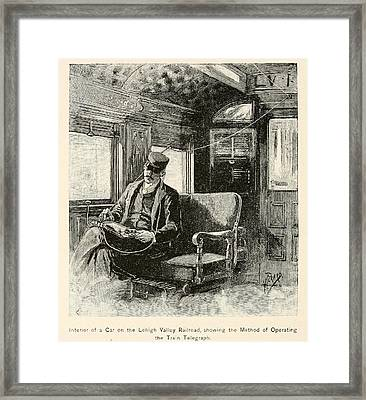 Railways Immediately Collaborated Framed Print by Everett