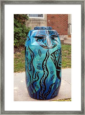 Rain Barrel 3 Framed Print by Luis Lugo