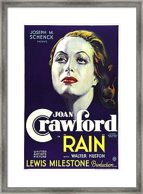Rain, Joan Crawford, 1932 Framed Print by Everett