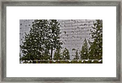 Rain On My Windowpane Framed Print by Kirsten Giving