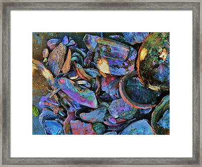 Rainbow Beach Framed Print by Helen Carson