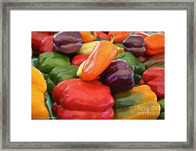 Rainbow Bells Framed Print by Susan Herber