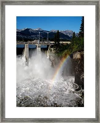 Rainbow Dam Framed Print by Jonathan Lagace