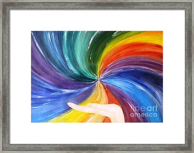 Rainbow For My Son Framed Print by AmaS Art