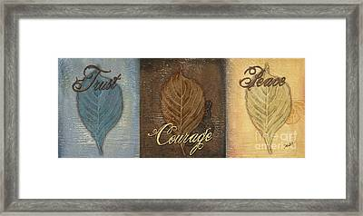 Rainbow Leaves 2 Framed Print by Debbie DeWitt