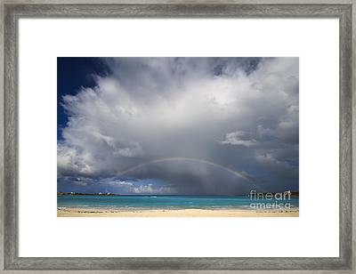 Rainbow Over Emerald Bay Framed Print by Dennis Hedberg