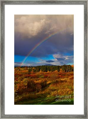 Rainbow Over Rithets Bog Framed Print by Louise Heusinkveld