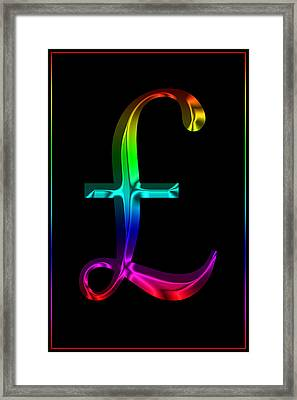 Rainbow Pound Sterling Framed Print by Andrew Fare