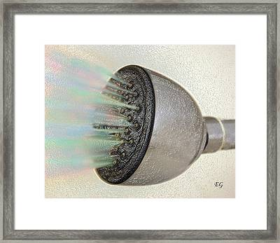Rainbow Shower Framed Print by Eddie Glass