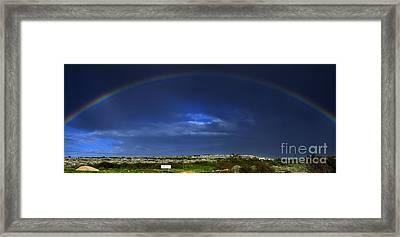 Rainbow Framed Print by Stelios Kleanthous