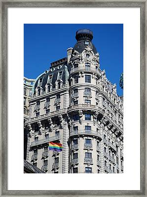 Rainbows And Architecture Framed Print by Rob Hans