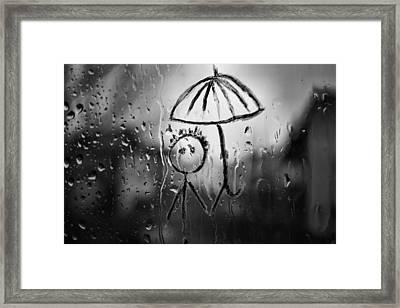 Raining Again Framed Print by Sunkies Fang