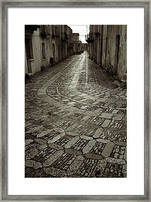 Raining In Erice Framed Print by RicardMN Photography