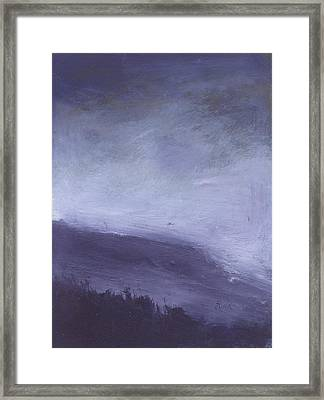 Rainstorm Over Stenbury Down Framed Print by Alan Daysh