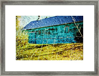 Rainy Barn Framed Print by Jill Hyland