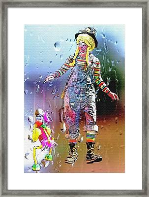 Rainy Day Clown 3 Framed Print by Steve Ohlsen