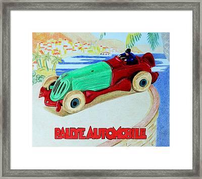 Rallye Automobile Framed Print by Glenda Zuckerman