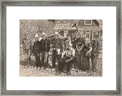 Ranch Stories Through Generations Framed Print by Lenore Senior and Dawn Senior-Trask