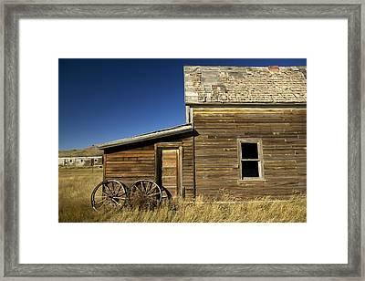 Ranchers House In Prairie Semi-ghost Framed Print by Pete Ryan