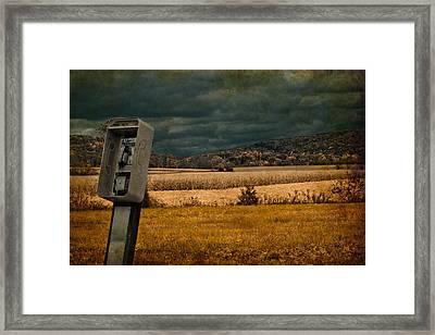 Random Phonebooth Framed Print by Trish Tritz