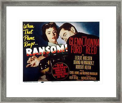Ransom, Donna Reed, Glenn Ford, 1956 Framed Print by Everett