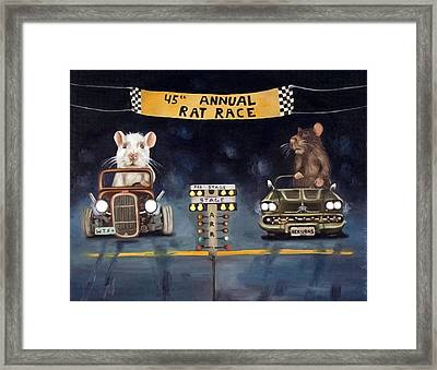 Rat Race Darker Tones Framed Print by Leah Saulnier The Painting Maniac