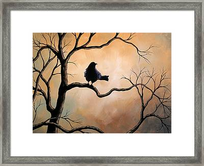 Raven Framed Print by Amy Giacomelli