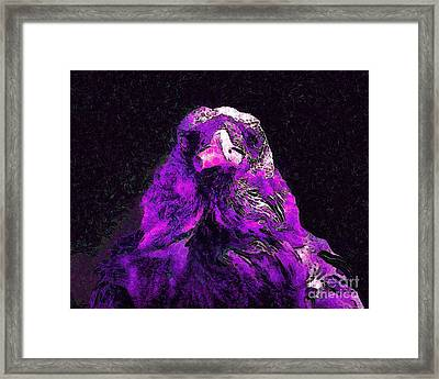 Raven In Van Gogh.s Dream . V2 . 40d9097 Framed Print by Wingsdomain Art and Photography