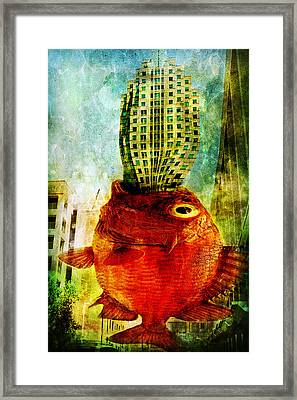 Ravenous Framed Print by Spokenin RED