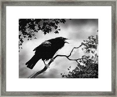 Raven's Song Framed Print by Robert Foster