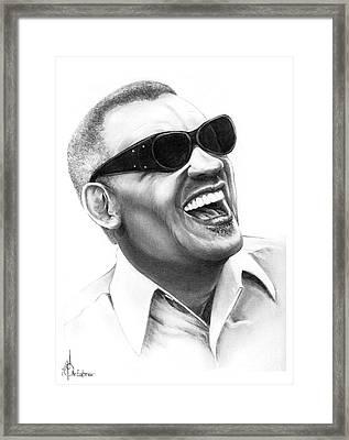 Ray Charles Framed Print by Murphy Elliott
