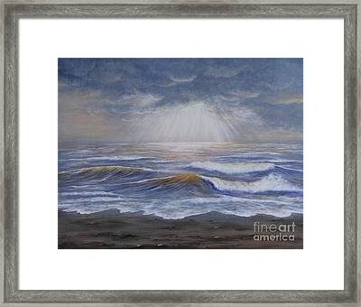 Ray Of Hope Framed Print by Kristi Roberts