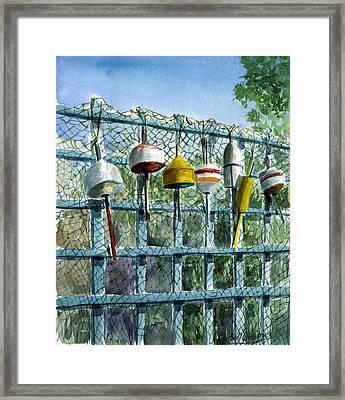 Ray's Fence Framed Print by Paul Gardner