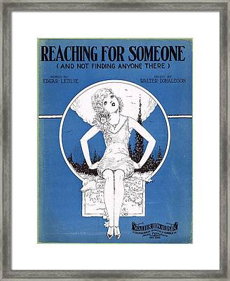 Reaching For Someone Framed Print by Mel Thompson
