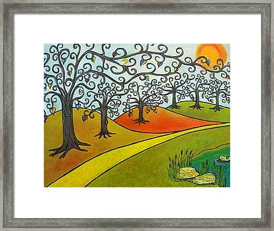 Reaching Out Framed Print by Sharon Lee Samyn