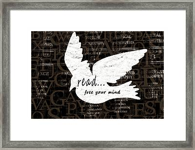 Read Free Your Mind Brown Framed Print by Angelina Vick